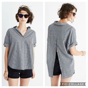 Madewell Courier Gingham Print Button Back Shirt